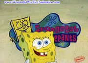 SpongeBob theme song cel