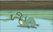 Plankton slips and falls