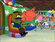 Larry in SpongeBob Meets the Strangler-2