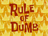 Rule of Dumb title card