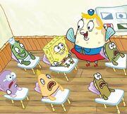 SpongeBob-Mrs-Puff-happy-desk