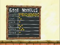 Good Noodles board