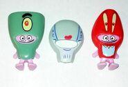 SpongeBob face-swap figures Plankton Pearl Krabs
