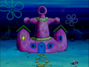 Mama Krabs' House at night
