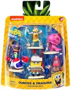 Spongebob-squarepants-2-5-inch-figurine-5-pack-dunces-dragons-new-11