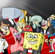 Spongebob-squarepants-cast-selfie-nickelodeon-27th-annual-kids-choice-awards-2014-nick-nicktoons-nicktoon-kca-sbsp