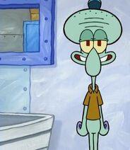 Squidward is happy and spongebob is sad