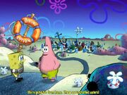 3D Spongebob & 3D Patrick Outside Of Bikini Bottom