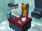 Plankton awake, and wants the recipe book