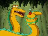 Giant golden eel