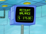 SpongeBob SquarePants Karen the Computer Account Balance