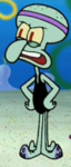 Squidward Wearing His Exercise Uniform