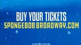 SpongeBob SquarePants Broadway Musical commercial