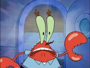 The surprised mr krab