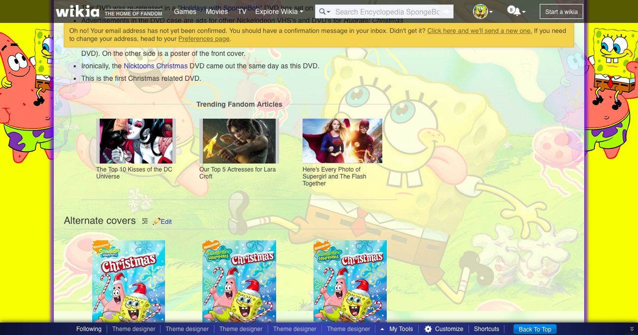 Image - Trending Fandom Articles on Christmas DVD page.png ...