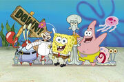 Lgfp1764 spongbob-patrick-sandy-and-squidward-spongebob-squarepants-poster