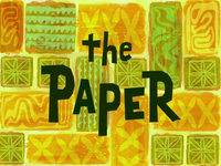 The Paper title card