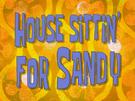 House Sittin' for Sandy title card