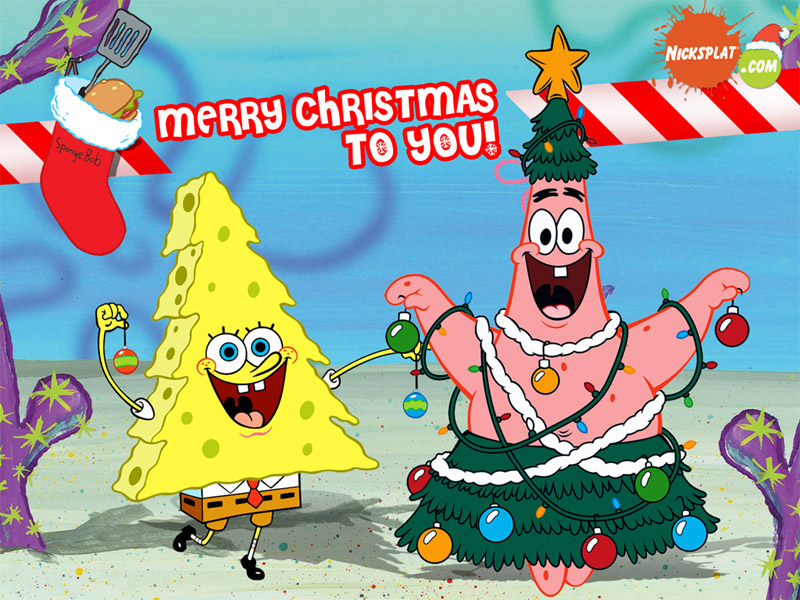 free download spongebob manual christmas tree special wallpaperjpg
