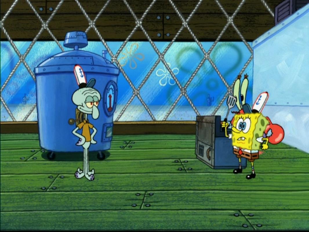 File:Patty Gadget vs SpongeBob.png