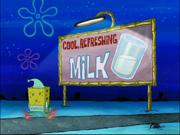 Cool, refreshing milk