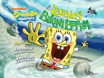 Legends of Bikini Bottom DVD Main Menu