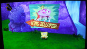 King Jellyfish sign in Battle for Bikini Bottom