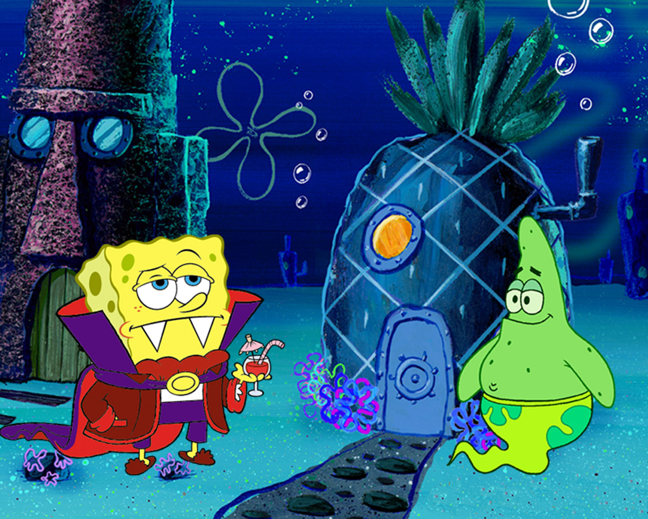 Spongebob Halloween Costumes Wallpaper Desktop Background Free Download