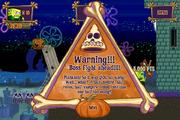 Halloween Horror Part 2 Boss Warning