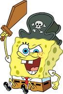 Pirate SpongeBob stock art