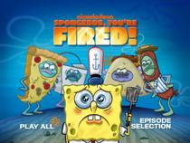 SpongeBob, You're Fired! DVD Main Menu