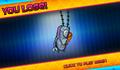 Bikini Bottom Brawlers Plankton robot in purple cape you lose.png