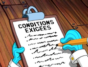 Conditions exigées