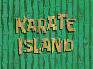Karate Island title card