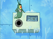 Plankton Turns Up Thermostat