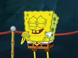 SpongeBob's yellow teeth mistake in Nautical Novice