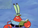 Mr. Krabs Wearing Glasses & Holding a Book