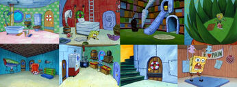 Spongebob house collage
