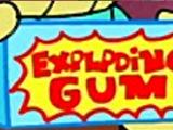 Explodierendes Kaugummi