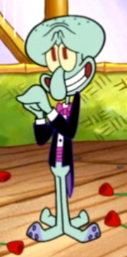 Squidward with roses