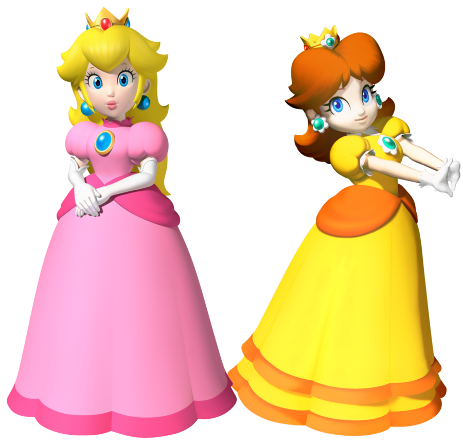 image peach and daisy by legend tony980d4p43h3png