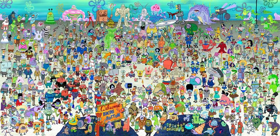 image spongebob squarepants characters from all the seasons jpg