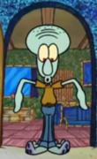 Squidward with pants