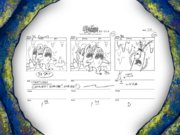 Chum Caverns storyboard panels-4