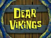 Dear Vikings storyboard panels title card