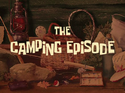 The Camping Episode title card