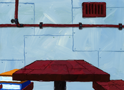 Welcome to the Chum Bucket card table background art