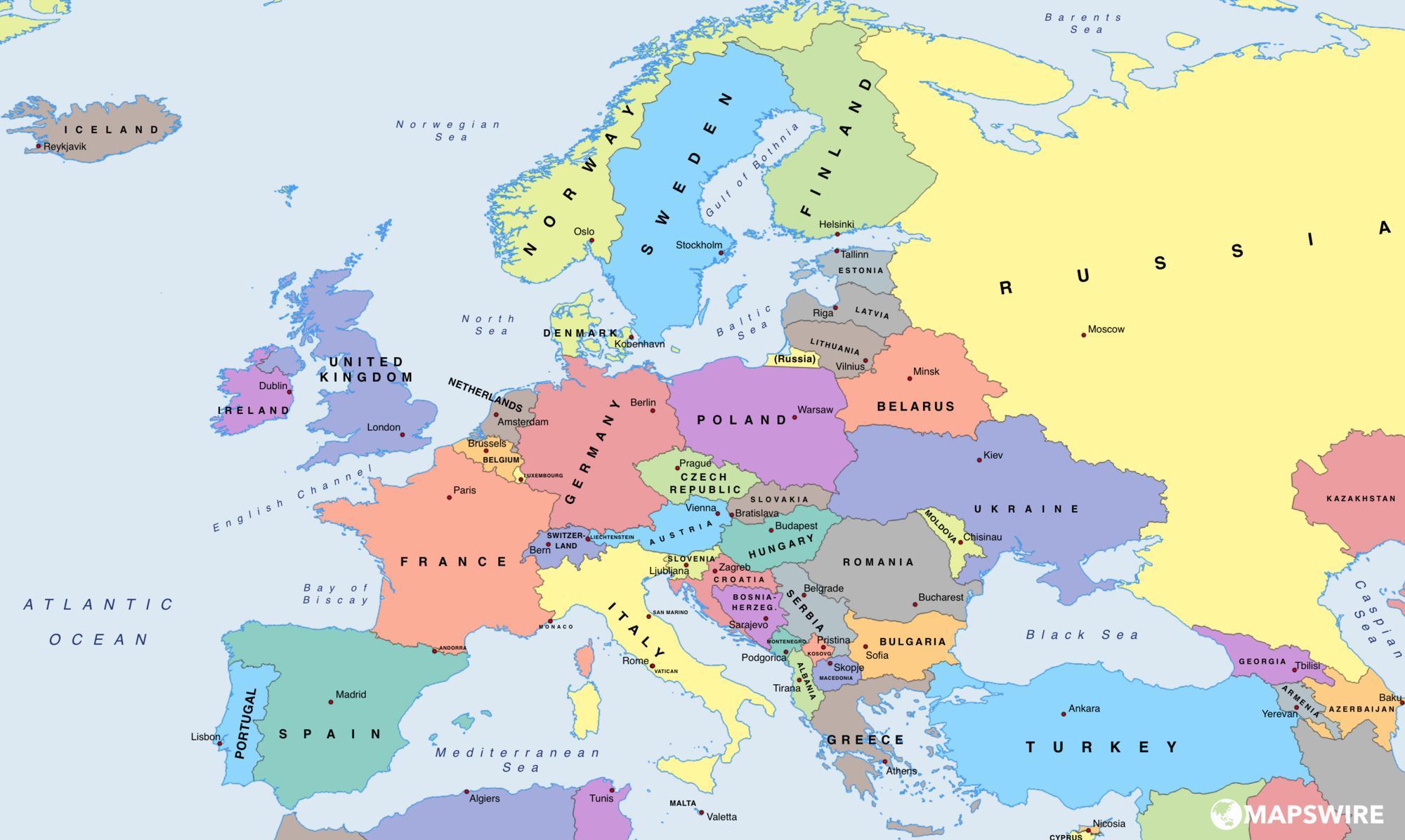 Image - Europe-political-map-large.jpg | Encyclopedia ...
