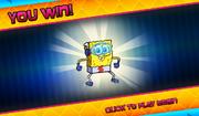 Bikini Bottom Brawlers SpongeBob as the Quickster you win