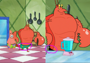 Larry shorts changes color in You Don't Know Sponge